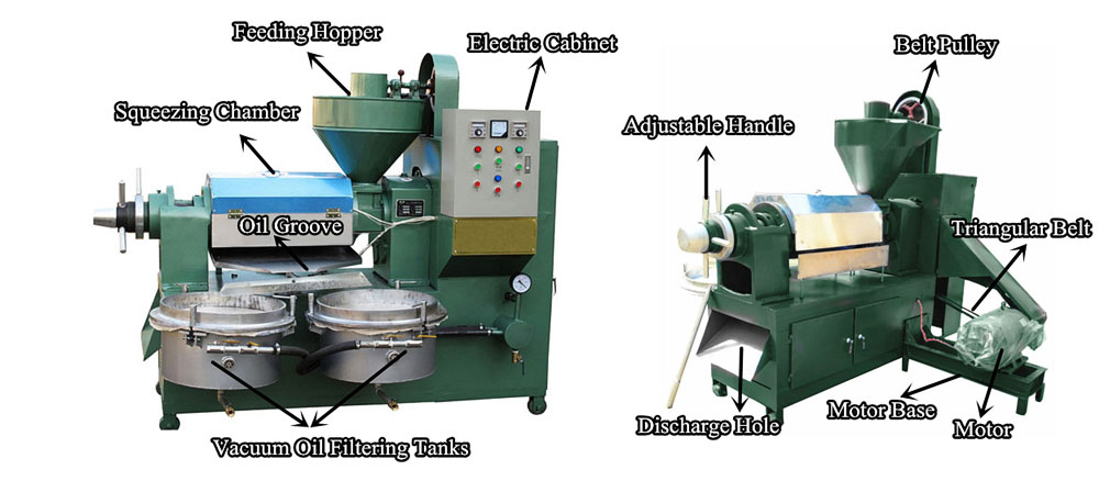 Automatic screw expeller structure