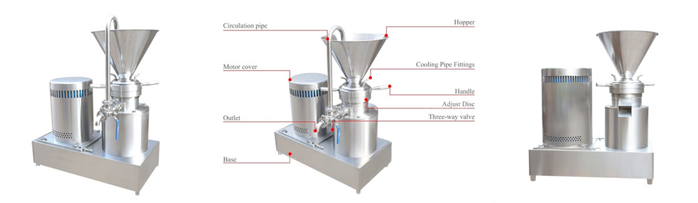 Chocolate bean colloid mill instruction