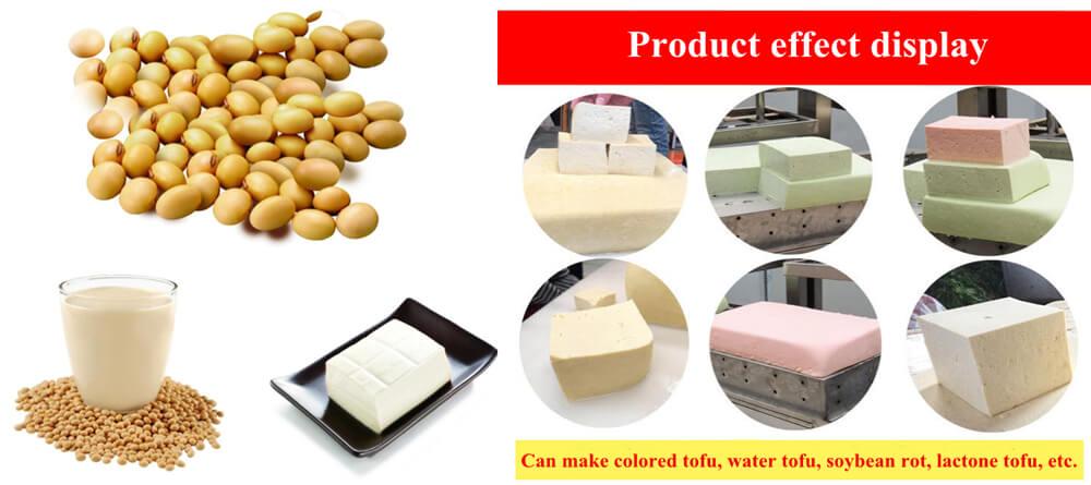 Colored tofu