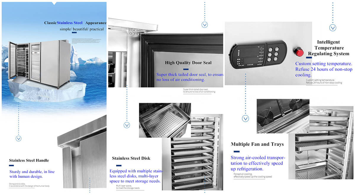 Features of instant freezing machine