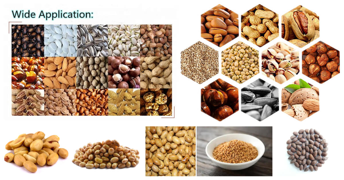The application of oil seeds roasting machine