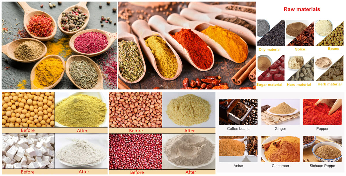 application of grains grinding machine