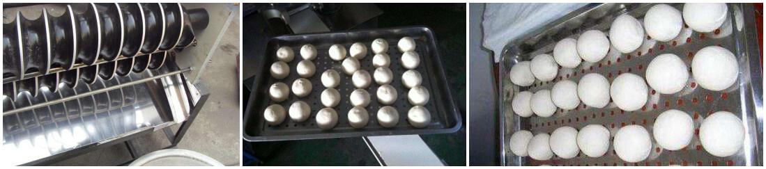 automatic round dough balls making machine molding process