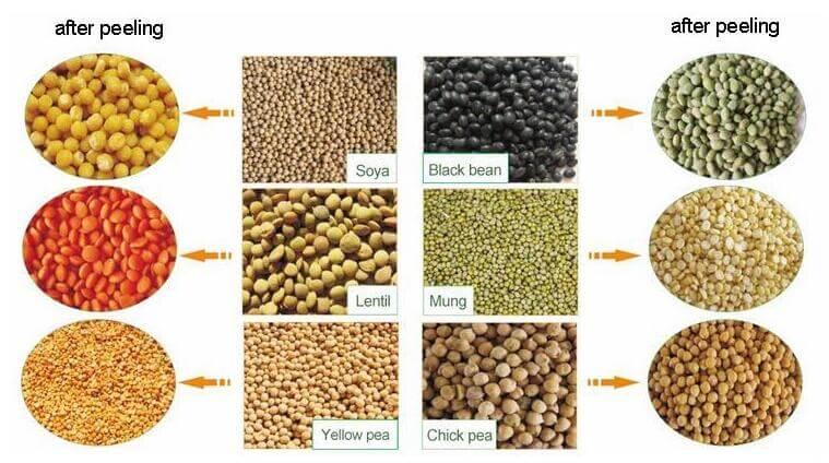 coffee bean huller can also peeling grains like soybean, black bean, etc