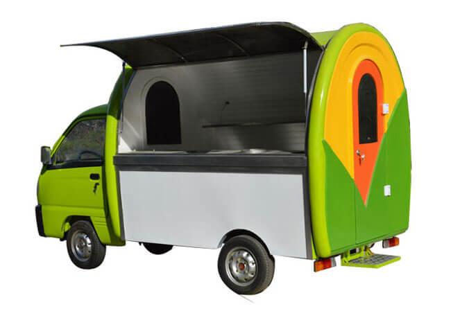 electric food truck corn shape