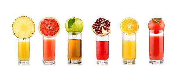 fruit juice and vegetable juice