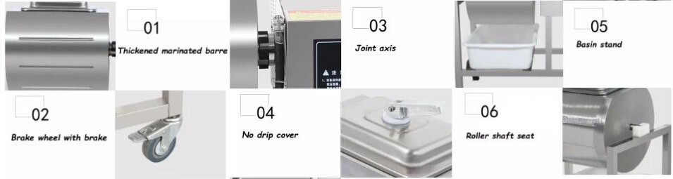 meat marinating machine detailed parts show