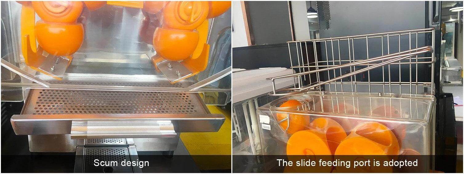 orange juice squeezer features