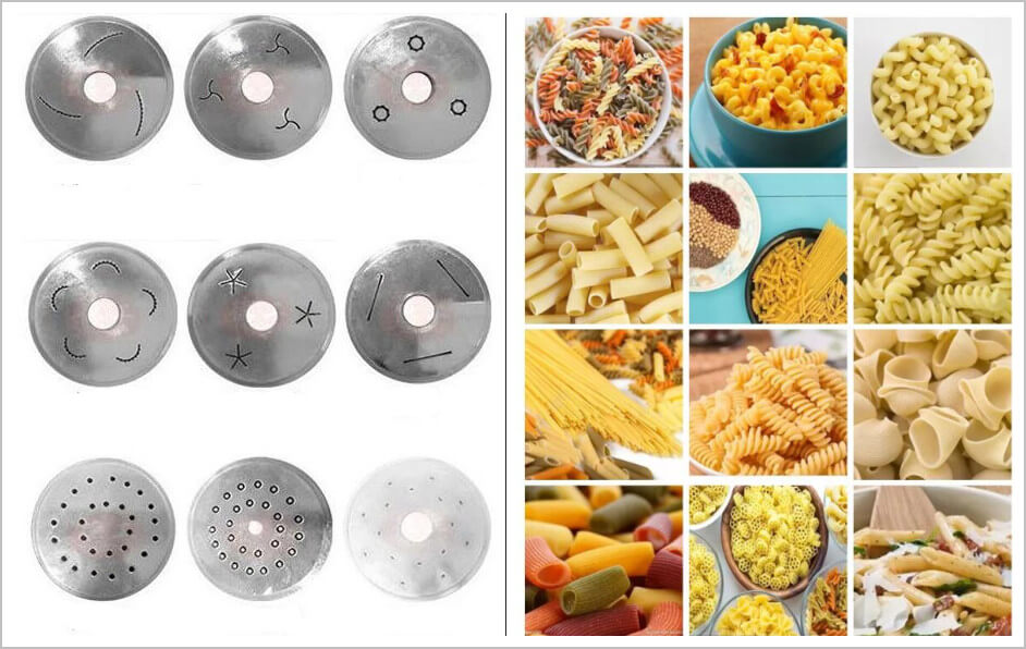 pasta food can be processed by the pasta making machine