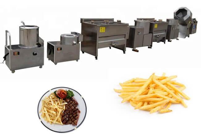 small french fries production line