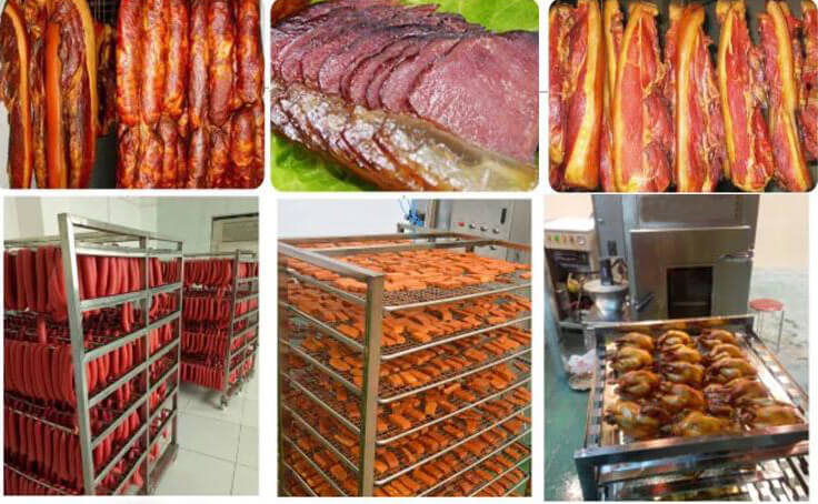 smoked meat products made by meat smokehouse