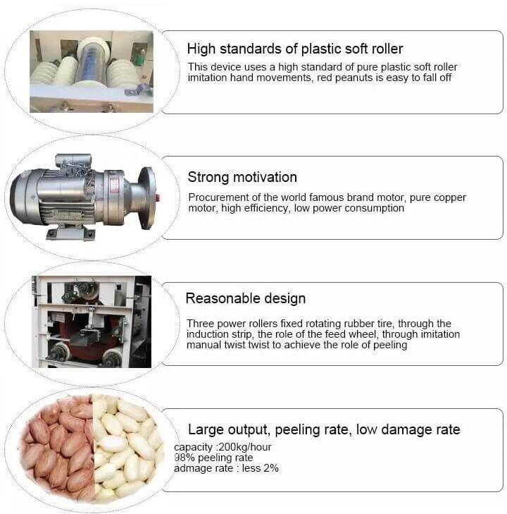 soaked peanut skin removing machine advantages