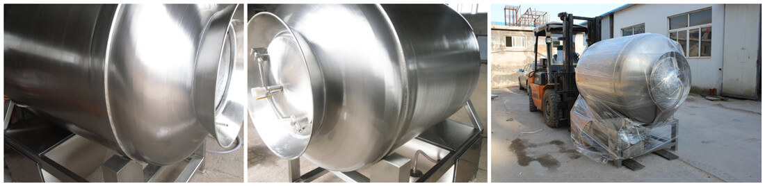 stainless steel automatic meat tumbler