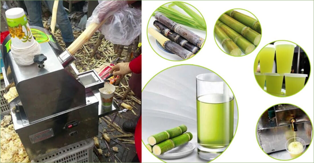 sugarcane juice extracted from automatic sugarcane juicer