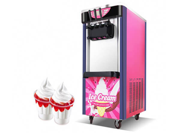 vertical type soft serve ice cream machine
